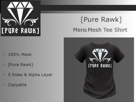 [MW]   [Pure Rawk] Diamond Logo Mens Tee Shirt - Black (Box) FREE FREE FREE!!! | Second Life Male Freebies | Scoop.it