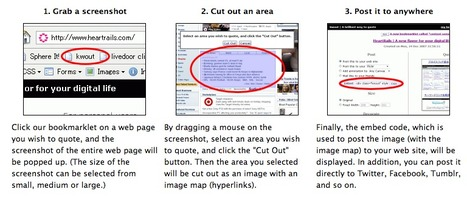 Capture Any Portion of Any Web Page and Post/Embed It Anywhere with Kwout | Content Curation World | Scoop.it