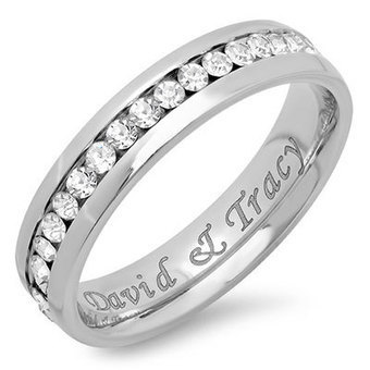Personalized Stainless Steel Eternity Ring - Christmas Gifts | Christmas Gifts For Every Occasion | Scoop.it