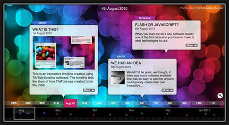 Beautiful web-based timeline software | All about e-learning.... | Scoop.it