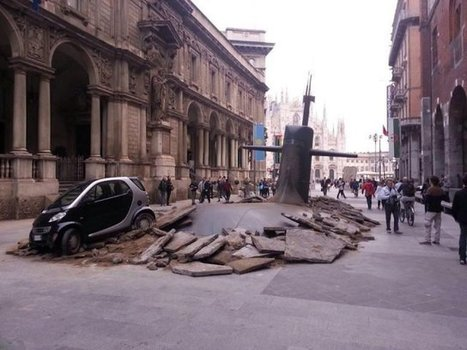 Submarine Rises Through Milan's Pavement In Ridiculous Publicity Stunt | Branded Entertainment | Scoop.it