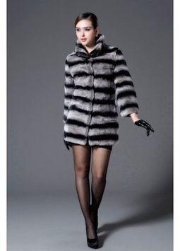 Women's Furs :: Fur Coats :: Rabbit :: Chinchilla Style Rex Rabbit Fur Coat - | furs | Scoop.it
