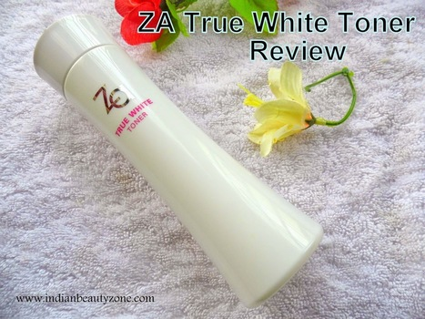 ZA True White Toner Review | Indian Beauty Zone | Indian Beauty Zone | Scoop.it