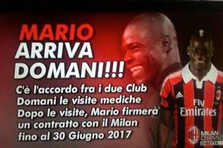 Balotelli day, l'arrivo in DIRETTA! | Calcio e Calciomercato | Scoop.it