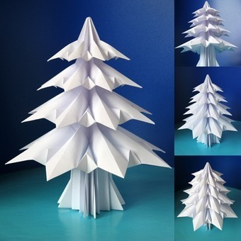 How to make an origami Christmas tree | How About Orange | Du fait main & some handmade | Scoop.it