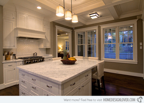 15 Beautiful Kitchen Island with Table Attached | Home Design Lover | Design, Photography, and Creativity | Scoop.it