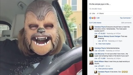 Texas mom's Chewbacca mask spawns the most popular Facebook Live post in history | Mastering Facebook, Google+, Twitter | Scoop.it