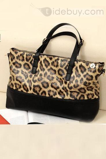 New Fashion Concise Boutique Leopard PU Handbag | interest thing | Scoop.it