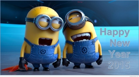 funny minions happy new year 2015 wallpaper | 9To5Gifs: Funny & Animated Gifs | Scoop.it