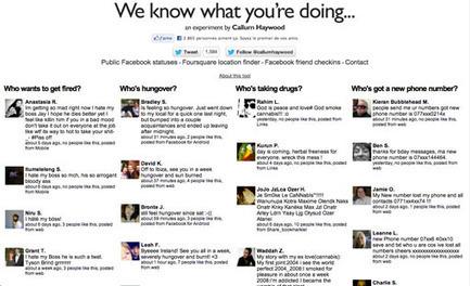 Ce site sait ce que vous faites, grâce aux données Facebook et Foursquare | Veille_Curation_tendances | Scoop.it