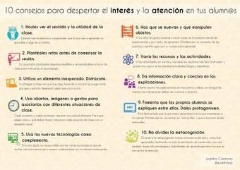 10 consejos para despertar el interés y la atención en tus alumn@s (infografia) | Orientación en la red | Scoop.it