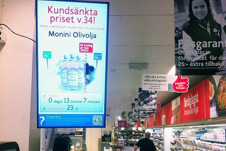 Suède : De la bonne utilisation des réseaux sociaux et de l'affichage numérique sur le point de vente ? | Ooh-tv | 2- Du social retailing à l'innovation des points de vente | Scoop.it