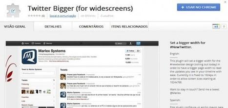 Extensión de Chrome para aumentar el tamaño del nuevo Twitter | web2.0ensapje | Scoop.it