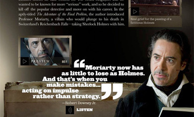 Sherlock Holmes: A Game of Shadows gets second-screen iPad app | Transmedia: Storytelling for the Digital Age | Scoop.it