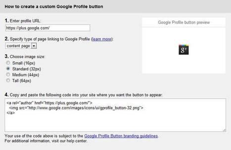 Installer le bouton Officiel de Google+ sur votre blog | BlogDuGeek | Time to Learn | Scoop.it