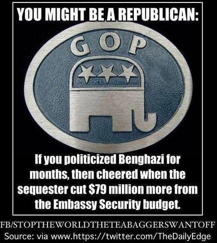 Twitter / DrSchadNFreude: #Benghazi #GOP #tcot #TeaParty ...   CRAPPOL:A   Scoop.it