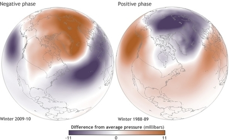 How is the polar vortex related to the Arctic Oscillation? | NOAA Climate.gov | Global Climate Change | Scoop.it