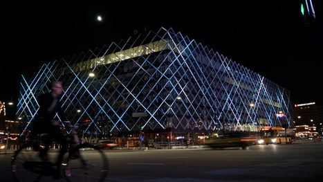confederation of danish industry headquarters interactive LED facade | Facciate, facades, vertical green wall, colorful facades, wall street art, facades led media light, projection  mapping | Scoop.it