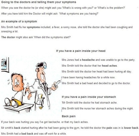 Going to doctors conversation between 2 people | Learning Basic English, to Advanced Over 700 On-Line Lessons and Exercises Free | Scoop.it
