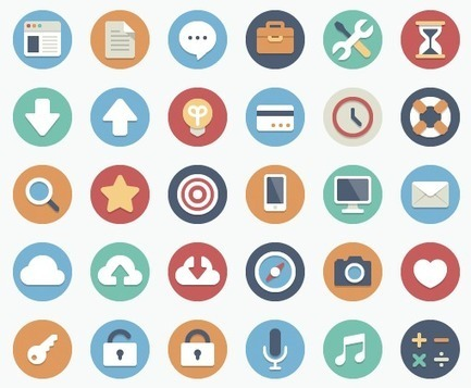 90 Free Flat Circle Icons & 180 Variations | Toxic Free Products | Scoop.it