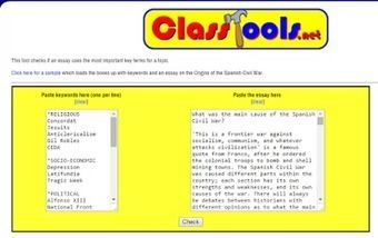 ClassTools Key Word Checker - See if Students Use Assigned Vocabulary Words | TACTIC | Scoop.it