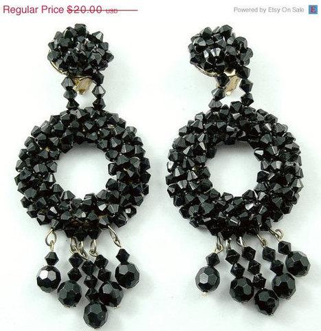 Vintage Cluster Bead Earrings | QuiteQuainte | Scoop.it