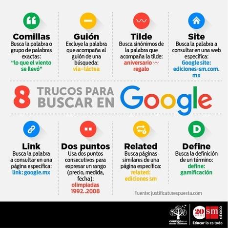 Buscar en google nunca fue tan fácil Infografía con trucos para Buscar en google | Recursos educativos TIC | Scoop.it