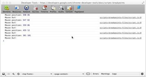 Breakpoint Actions in JavaScript - RandomThink.net | hacker zone | Scoop.it