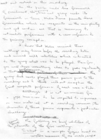 Bill Evans' 'Kind of Blue' Notes | Jazz Plus | Scoop.it