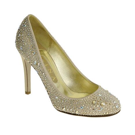 Gilda Camel Silk Swarovski Court 100mm Heel | GINA | Creative Heights: Reinventing The Heel of Designer Shoes. | Scoop.it