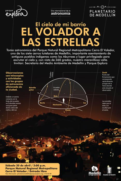Día Internacional de la Astronomía. Del Volador a las estrellas // Planetario Medellin | literatura veroteje | Scoop.it