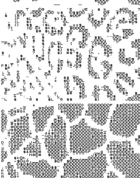 By Rich Oglesby for the GIF-exhibition Clusterfuck Zoo,... | ASCII Art | Scoop.it