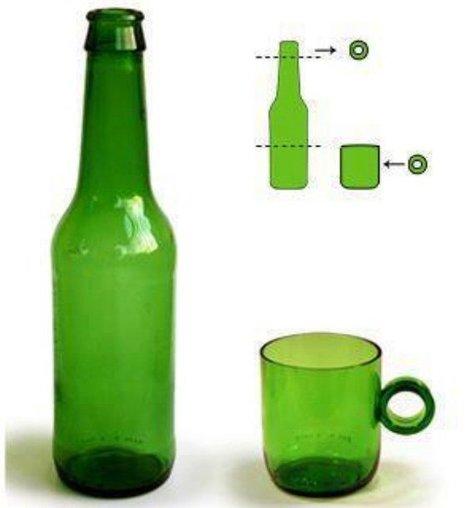 Cómo cortar una botella de vidrio con un hilo para hacer vasos - VeoVerde | VIDRIO | Scoop.it