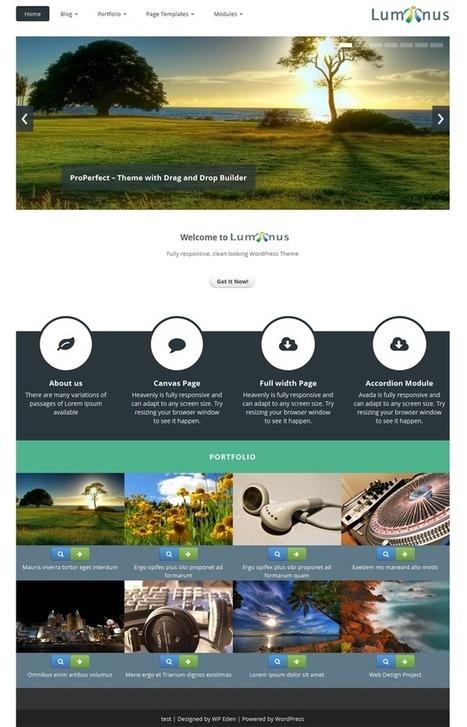 Luminus - Responsive WordPress Theme for Free - WP Eden | WordPress | Scoop.it