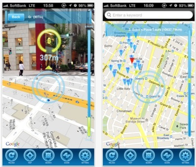 AR-Maps Brings Google Maps and Augmented Reality to Your Phone! | Augmented Reality News and Trends | Scoop.it
