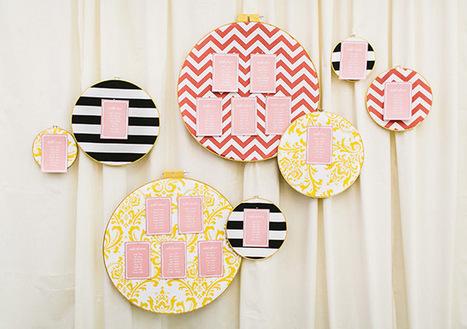 DIY: Embroidery Hoop Escort Card Display | Green Wedding Shoes ... | DIY Arts & Crafts | Scoop.it