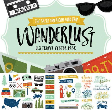 Free Download ❤ Wanderlust - Travel theme graphics | Design Freebies & Deals | Scoop.it