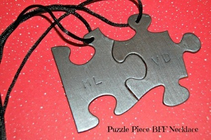 DIY Valentines: Puzzle Piece BFF Necklace - Barista Kids | Barista Kids | DIY | Do-it-yourself | How To's | Tips | Scoop.it