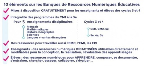 Les banques de ressources numériques pour l'école : éléments d'informations et infographie à télécharger | Ressources pour les TICE en primaire | Scoop.it