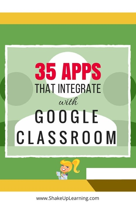 35 Awesome Apps that Integrate with Google Classroom | Shake Up Learning | E-Learning - Lernen mit digitalen Medien | Scoop.it