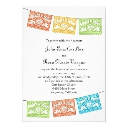 Love Birds Papel Picado Wedding Banners Invitation from Zazzle.com | Altered Space Design | Scoop.it