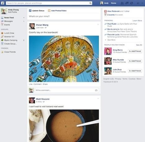 Facebook : une nouvelle version du fil de nouvelles en cours de déploiement - Geeks and Com' | Réseaux sociaux | Scoop.it