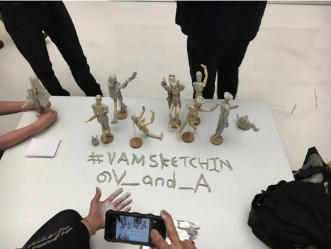 "A Live Sculpt-In Protests the V&A's ""No Sketching"" Restriction 