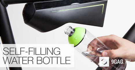 This 'Self-Filling' Water Bottle Can Turn Air Into Clean And Drinkable Water | 9GAG.tv | Creative Innovation | Scoop.it