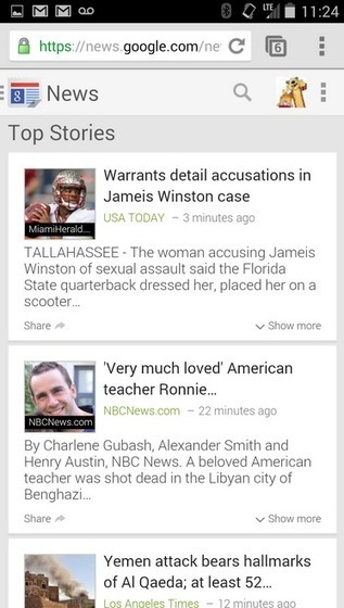 Google News for Mobile Devices, updated with new look and features | Daily Magazine | Scoop.it