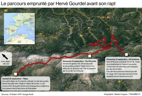 CARTE. L'itinéraire qu'Hervé Gourdel a suivi avant son enlèvement - Francetv info | mémoire M2 | Scoop.it