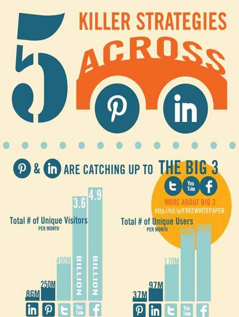 Infographic: 5 Killer Strategies for Pinterest and LinkedIn | Socialnomics | Solo Pro World | 21st Century Business | Scoop.it