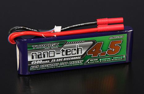 Turnigy nano-tech 4500mah 3S 25~50C Lipo Pack | Veille sur les Quadricoptères en DIY | Scoop.it