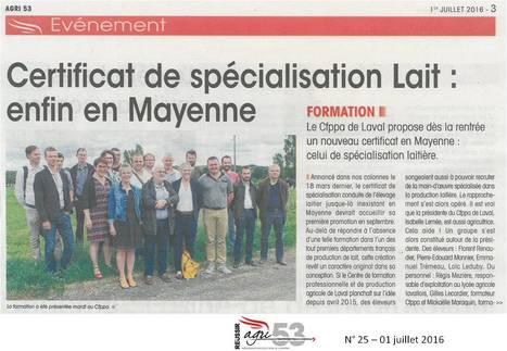 Un CS lait dès septembre | Le lycée agricole de Laval | Scoop.it