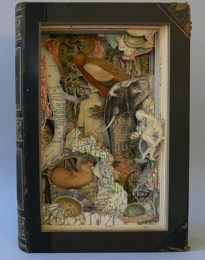 Artist Cuts Encyclopedias to Create Storybook Art - My Modern Metropolis | Machinimania | Scoop.it